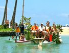 Outrigger Canoe Carries Hawaii's OceanFest Dignitaries